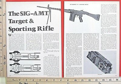 1973 SIG SAUER SIG-AMT TARGET & SPORTING auto rifle 4-Page MAGAZINE ARTICLE 5050