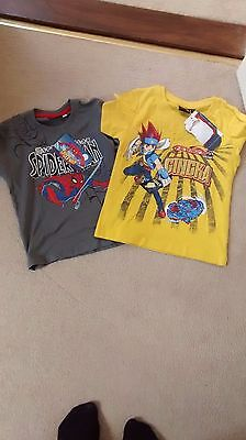BNWT pair bundle 2 tops spiderman and manga T-shirt boys 3-4