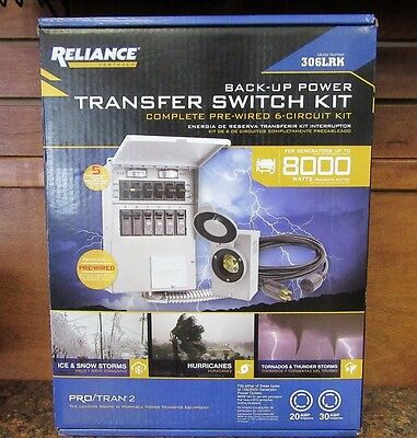 Reliance Back-Up Power Transfer Pre-Wired 6-Circuit Switch Kit 306LRK (C-6)