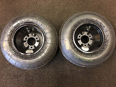 Go Kart Pair Of Front Wheels & Tyres Rotax Max Tkm Pro Kart X30 F100