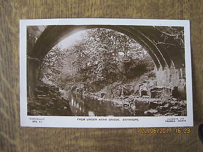 Real Photo Postcard From The Wear Bridge Stanhope Co Durham Lilywhite Halifax