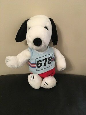 Vintage Snoopy Runner Soft Toy