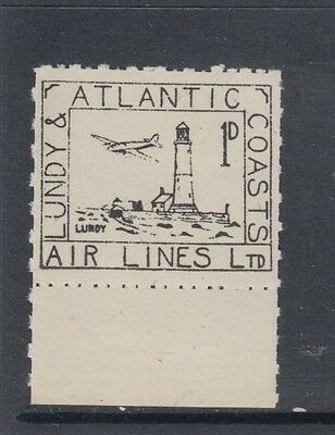 #28 Great Britain Lundy Island Puffin Stamps Black Airmail #20(b) Offset