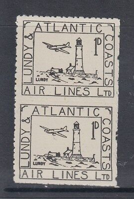 #26b Great Britain Lundy Island Puffin Stamps Black Airmail #20 imperforated