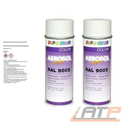2x 400ml DUPLI COLOR AEROSOL ART RAL 9002 GRAUWEISS LACK SPRAY 722684 32156718