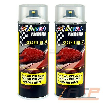 2x 400ml DUPLI COLOR TUNING CRACKLE EFFEKT WEISS RISSE STRUKTUR LACK 466434