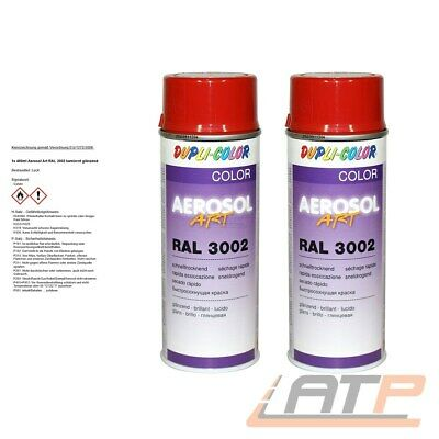 2x 400ml DUPLI COLOR AEROSOL ART RAL 3002 KAMINROT LACK SPRAY 741098 32167690