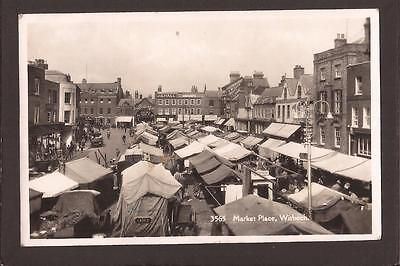 Wisbech. Busy Market Place. RP.