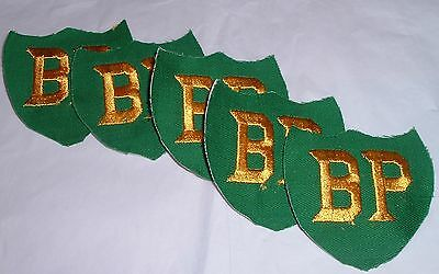 5 Vintage Employee Shirt patches BP Gas Station Worker