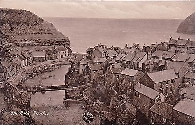 Yorkshire postcard THE BECK, STAITHES early 1900's