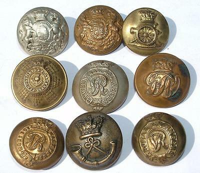 Collection Vc Crown Victorian Military Buttons Volunteer Engineers Scots Guards