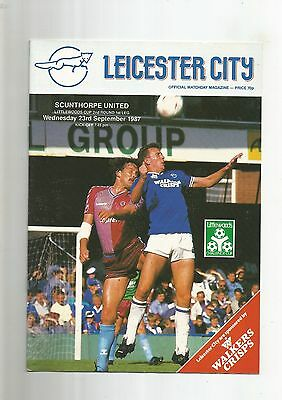 League Cup Leicester City v Scunthorpe United 1987 VGC
