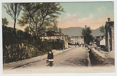 Ardmory Road, Rothesay, Girl +Building Works, in ~1903 Vintage PPC, GVG Used '08