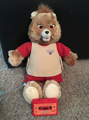 Working Vintage 1984 1985 Teddy Ruxpin Teddy Bear With Answer Box Tape Works
