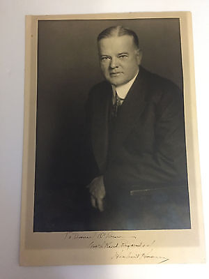 Herbert Hoover Oversized Harris & Ewing Photo Signed as President - Autographed