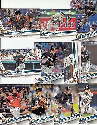 Topps 2017 Series 2 Complete Set MIAMI MARLINS