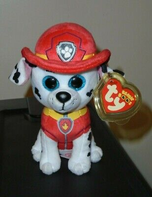 "Ty Beanie Boos ~ MARSHALL the 6"" Dog Nickelodeon Paw Patrol ~ NEW 2017 ~IN HAND"