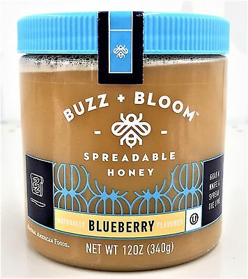 Buzz Bloom Blueberry Flavored Spreadable Honey 12 oz