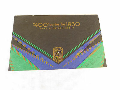 """""""400"""" Series For 1930 Twin Ignition Eight Nash Car Brochure 20 Pages"""