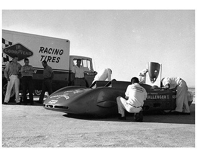 1961 Goodyear Mickey Thompson Challenger Bonneville LS Factory Photo ca7206