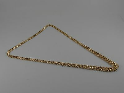 "9ct GOLD ROUND GRADUATED CURB NECK CHAIN NECKLACE. 18"" LONG CHAIN HALLMARKED"