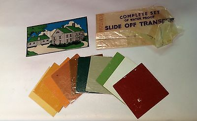 10 VTG 30s HOUSE BARN PAINT SAMPLES MADISON COMPANY W/TRIAL STENCIL TRANSFERS