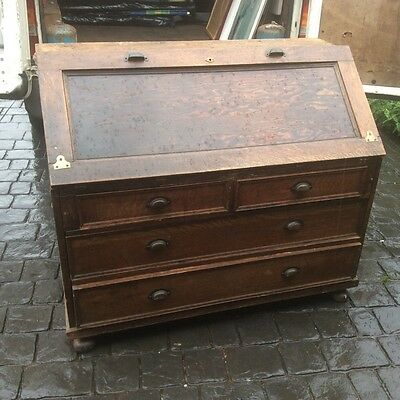 Very large solid heavy vintage bureau in good condition