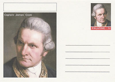 CINDERELLA - 4443 - Capt JAMES COOK  on Fantasy Postal Stationery card
