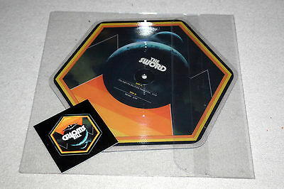 "THE SWORD (the night the sky cried) tears of fire. 1st prs 10"" hexagon pic disc"