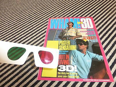 wham george michael  3D poster magazine + GLASSES 1980s  interviews pictures