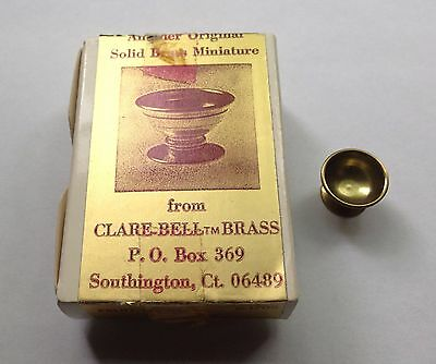 Clare-Bell™ Brass Works dollhouse miniature FRUIT BOWL 1705 made in USA 1:12 EUC