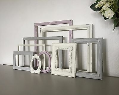 Vintage Style Open Photo Picture Frames Shabby Chic Frame Set Display/Wedding