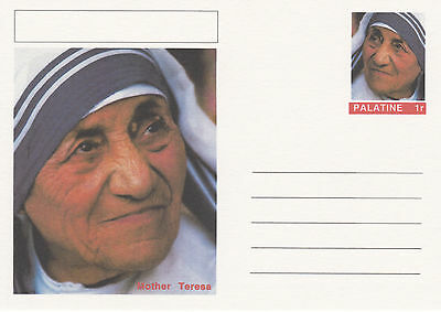CINDERELLA - 4447 - MOTHER TERESA  on Fantasy Postal Stationery card
