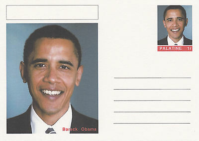 CINDERELLA - 4448 - BARACK OBAMA  on Fantasy Postal Stationery card