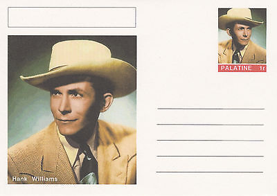 CINDERELLA - 4450 - HANK WILLIAMS  on Fantasy Postal Stationery card
