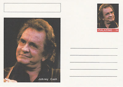 CINDERELLA - 4451 - JOHNNY CASH  on Fantasy Postal Stationery card