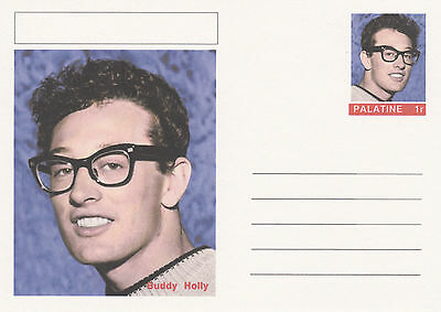 CINDERELLA - 4452 - BUDDY HOLLY  on Fantasy Postal Stationery card