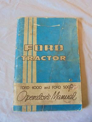 Original 1967 Instruction Book For The Ford 4000 & Ford 5000 Tractors