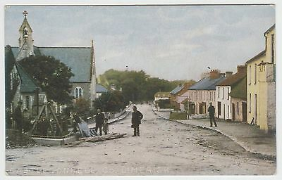 All Hands to Village Pump, Castleconnell nr Limerick:~1903 Vintage Tinted PPC,VG