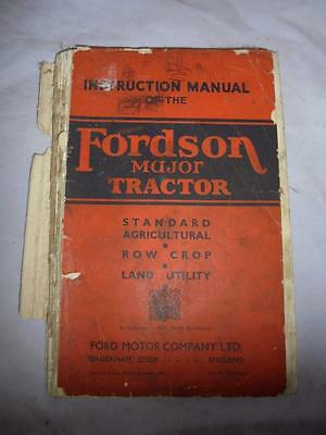 Original 1946 Instruction Manual For The Fordson Major Tractor