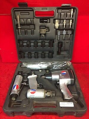 Devilbiss 4pc Air Tool Kit - Impact / Ratchet / Grinder / Chisel (SS1027436)