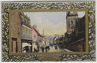 High Street, South Queensferry:~1910 Vintage Fine Tinted 'Wilson' PPC, Unused.