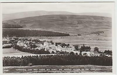 Tomintoul, Highest Highland Village, in 1950's (Est) Real Photo PPC, GVG Unused.