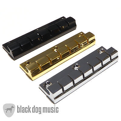 6, 7 or 12  String Stopbar Tailpiece Guitar in chrome, Black or Gold (Bridge)
