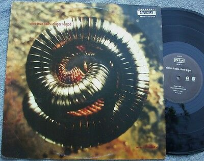 """NINE INCH NAILS Closer To God UK ISLAND 12"""" PIC SLEEVE Trent Reznor INDUSTRIAL"""