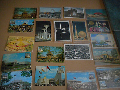 Estate Sale -Lot Of Old New York State World's Fair Postcards-71 In All