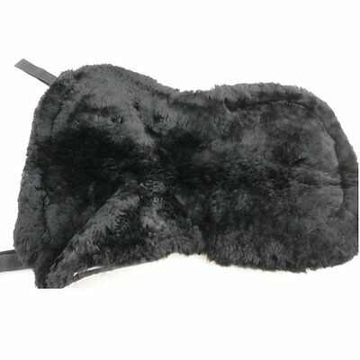 Dark Black Australia Sheepskin Saddle Pad Saddle Cover Comfort And Smooth Wool M