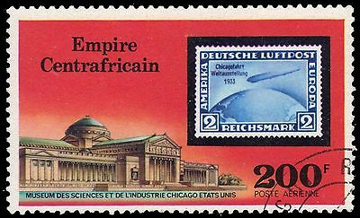 CENTRAL AFRICAN REPUBLIC C185 - Airship Zeppelin 75th Anniversary (pf81211)
