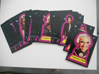 Battlestar Galactica Movie rare original stickers set 1978