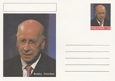 CINDERELLA - 4455 - BOBBY CHARLTON (Football)  on Fantasy Postal Stationery card
